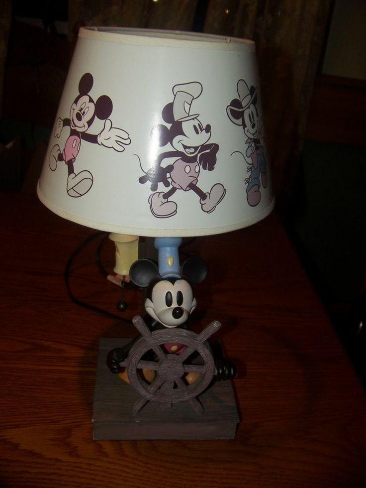 Disney Mickey Mouse Steamboat Willie Lamp 15 Inch