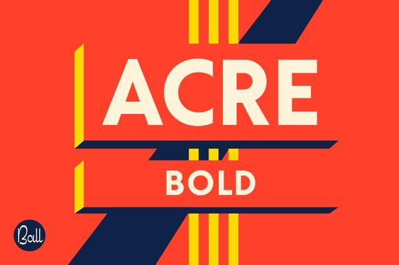 Acre Bold by JonathanBall on @creativemarket