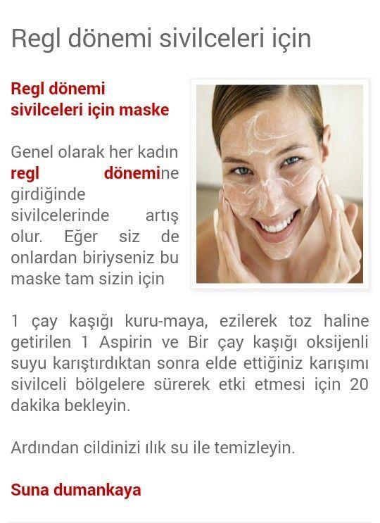 Regl dönemi sivilceleri için Suna Dumankya doğal tarif.. #regl #sivilce #ciktbakımı
