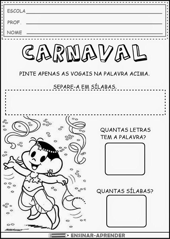 Atividades De Carnaval Para Imprimir Em 2020 Com Imagens