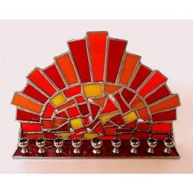 Buy Glass Menorah for Hanukkah | aJudaica.com