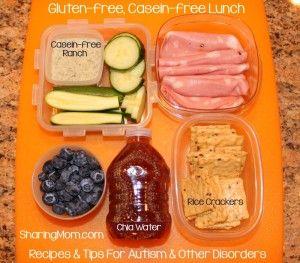 Gluten-free, Casein-free Lunch Ideas | SharingMom | Recipes & Tips for Autism and Other Disorders