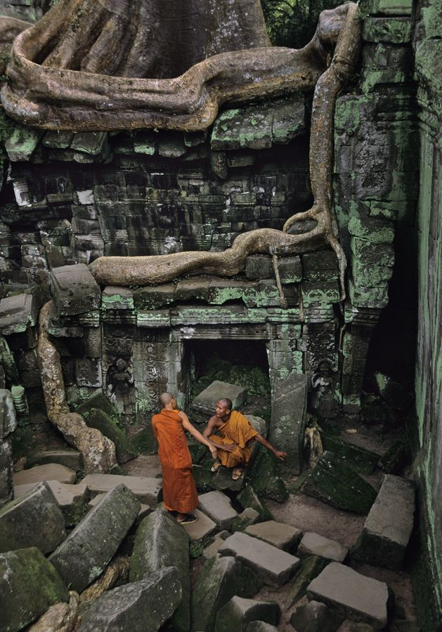 Ta Prohm, Angkor, Cambodia, 1998, by Steve McCurry