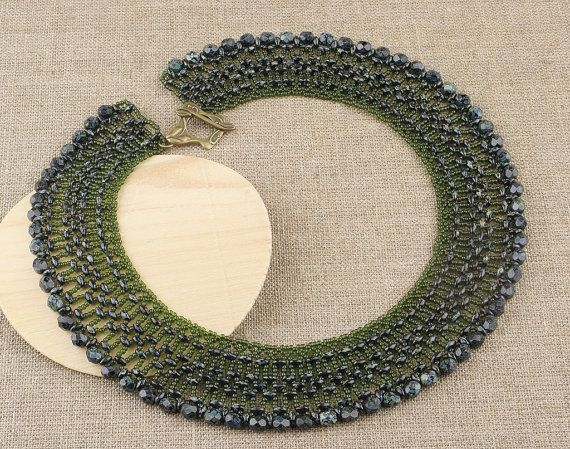 Stylish Green Beaded Necklace