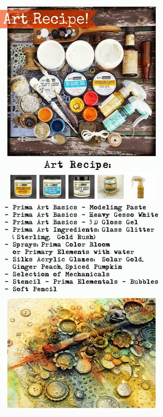 Finnabair: Art Recipe Wednesday: New Life of the Old Brush