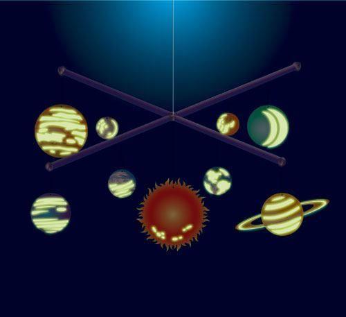 Laat je fantasie zijn gang gaan over wat zich allemaal afspeelt miljoenen lichtjaren weg. Maak en hang je eigen glow in the dark zonnestelsel mobiel in je slaapkamer. Het gloeit en beweegt...zoals het echte stelsel ook doet. Supercool en leerzaam!