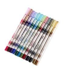 12 Color Glitter Lip liner Eye Shadow Eyeliner Pencil Pen Cosmetic Makeup Set