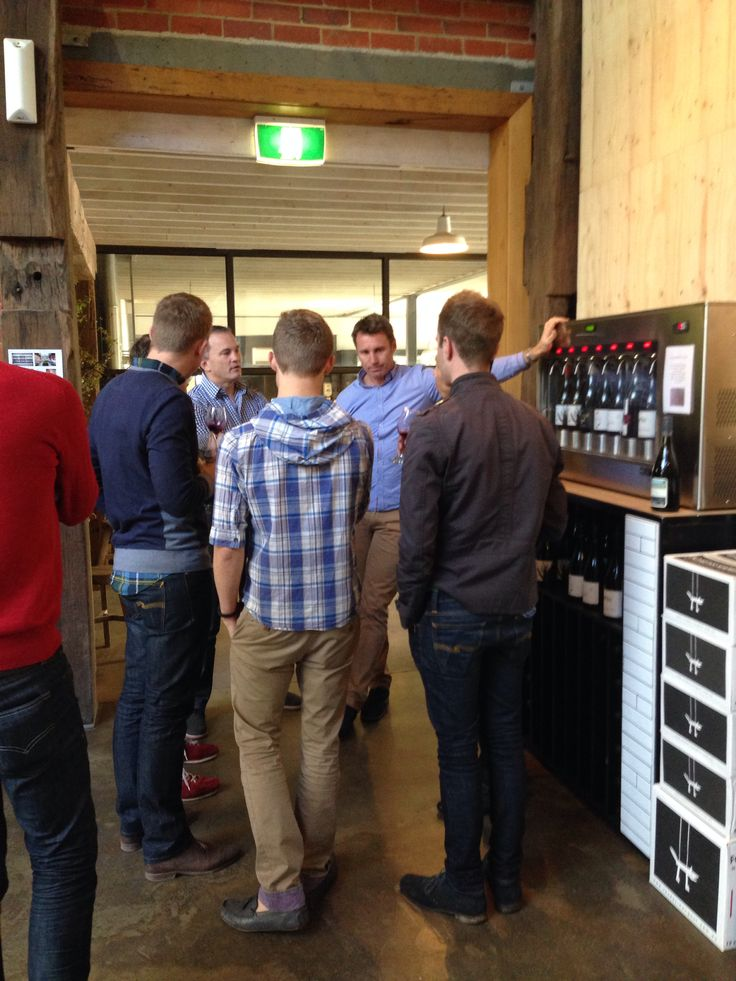 """September is """"Meet the Winemakers"""" - Craig and John talking some wine tasting expertise."""