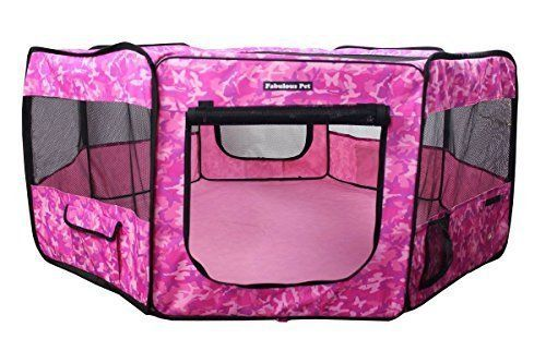 Fabulous Pet Water Resistant Portable Doggie, Dog, Puppy, Cat, Kitten Play Pen, Small Size - http://www.thepuppy.org/fabulous-pet-water-resistant-portable-doggie-dog-puppy-cat-kitten-play-pen-small-size/