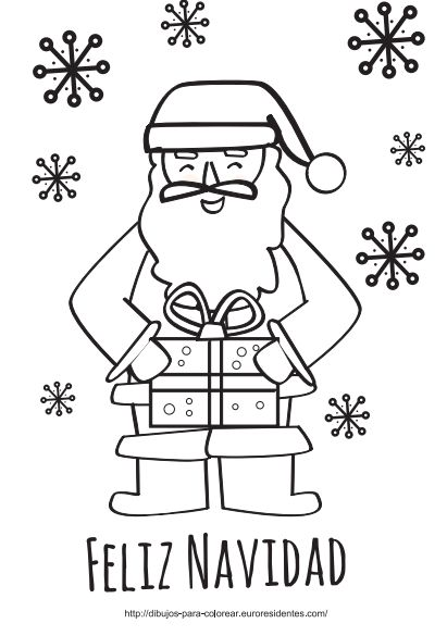 1000 ideas about papa noel on pinterest navidad for Sillas para colorear
