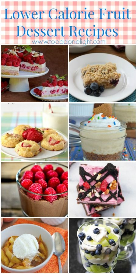 Delicious, Healthier, Low Calorie Fruit Dessert Recipes perfect for the summer from cakes to cookies to pies and more