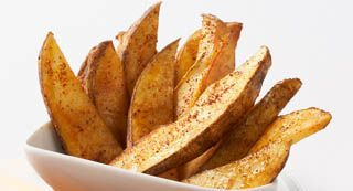 Chili Roasted Potato Wedges: These potatoes make a great side dish or appetizer with your favorite dip.