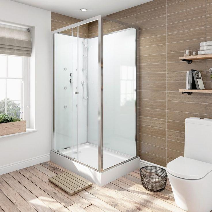 V6 Rectangular Glass Backed Shower Cabin 1200 x 800