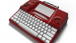 caratteri di una macchina da scrivere