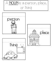 Interactive nouns freebie #kindergarten #nouns #interactive