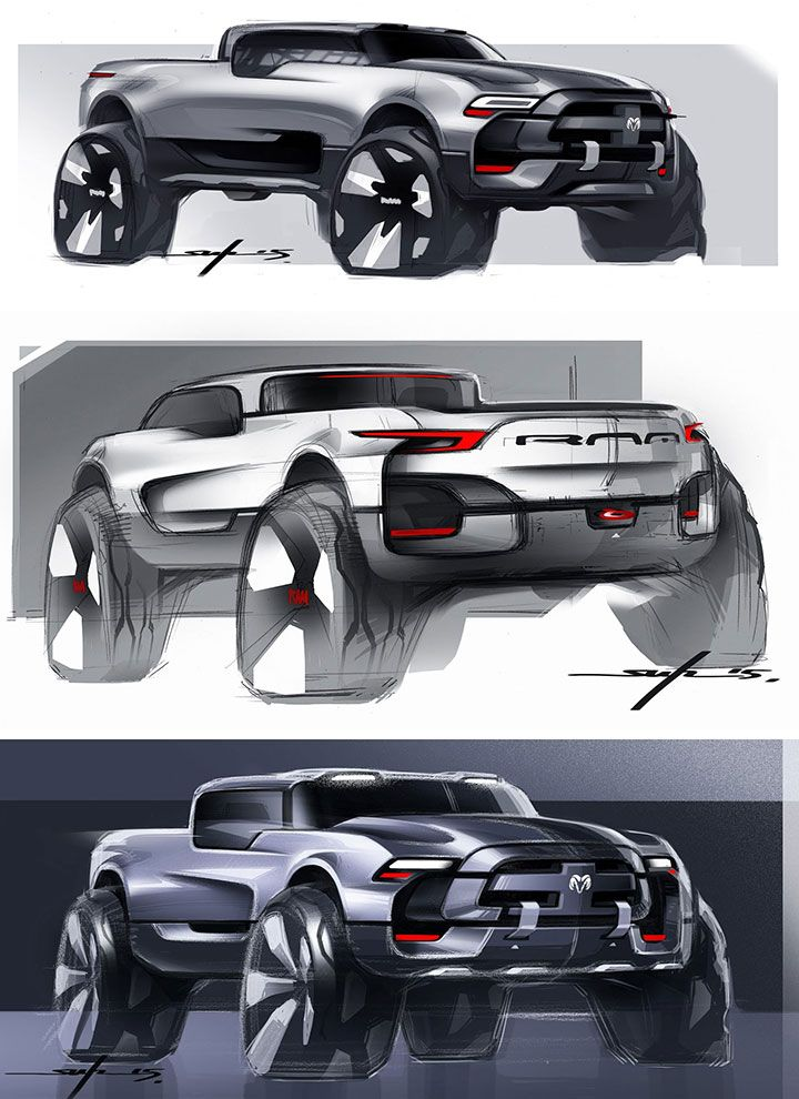 Dodge RAM Concept Design Sketches by Young-Joon Suh - Car Body Design