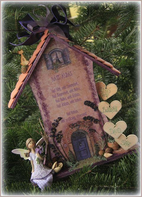 Házi Áldás - Házikó személyre szólóan , Férfiaknak, Dekoráció, Otthon, lakberendezés, Falikép, Meska
