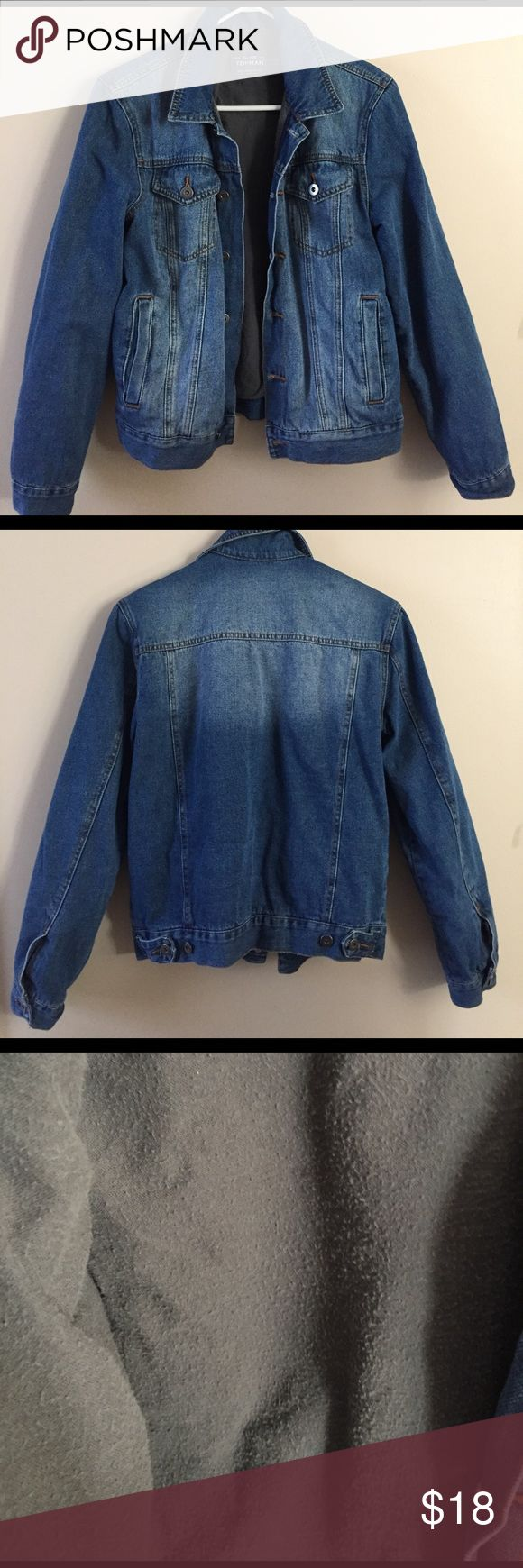 Topman Thick Jean Jacket Bought on portobello road in London! Has a warm thick inside (which is pretty pilled) Topshop Jackets & Coats Jean Jackets