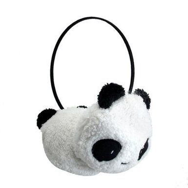 Cuddly Kawaii Panda Bear Fleece Lined Ear Band Ear Warmers
