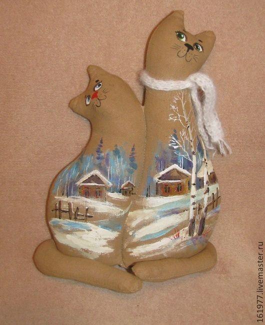 Ароматизированные куклы ручной работы. Чердачные кошки