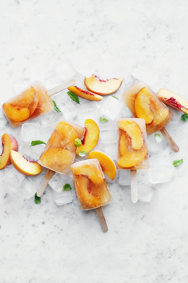 Geladinhos de Pêssego e Chá :: Peach Tea Popsicles