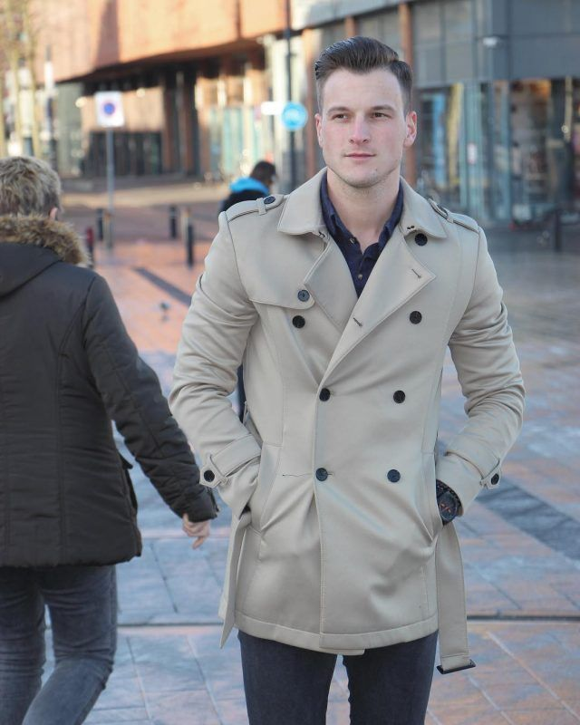 e870c9231 6 Best Men Trench Coats This Winter. Smokey taupe trench coat, blue ...