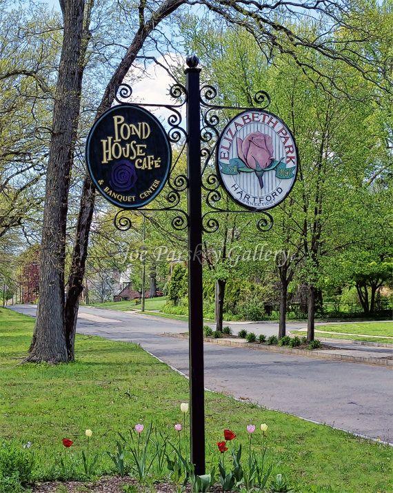 Sign for Elizabeth Park Hartford, West Hartford, CT by Joe Parskey Gallery on Etsy