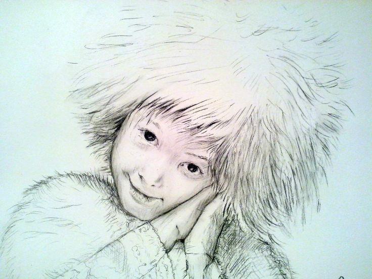 A portrait of a girl,pencil by Kamila Guzal-Pośrednik