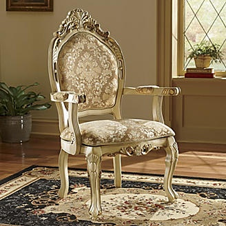 Ornate Ivory Chair From Seventh Avenue ®