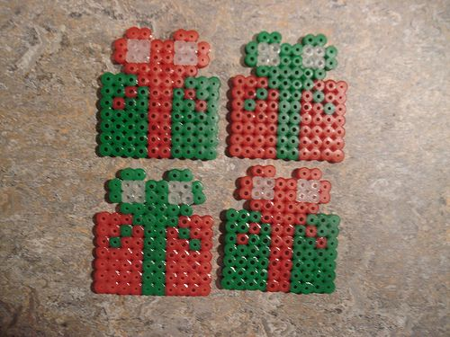 Christmas ornaments hama perler beads by Edvind Medvind