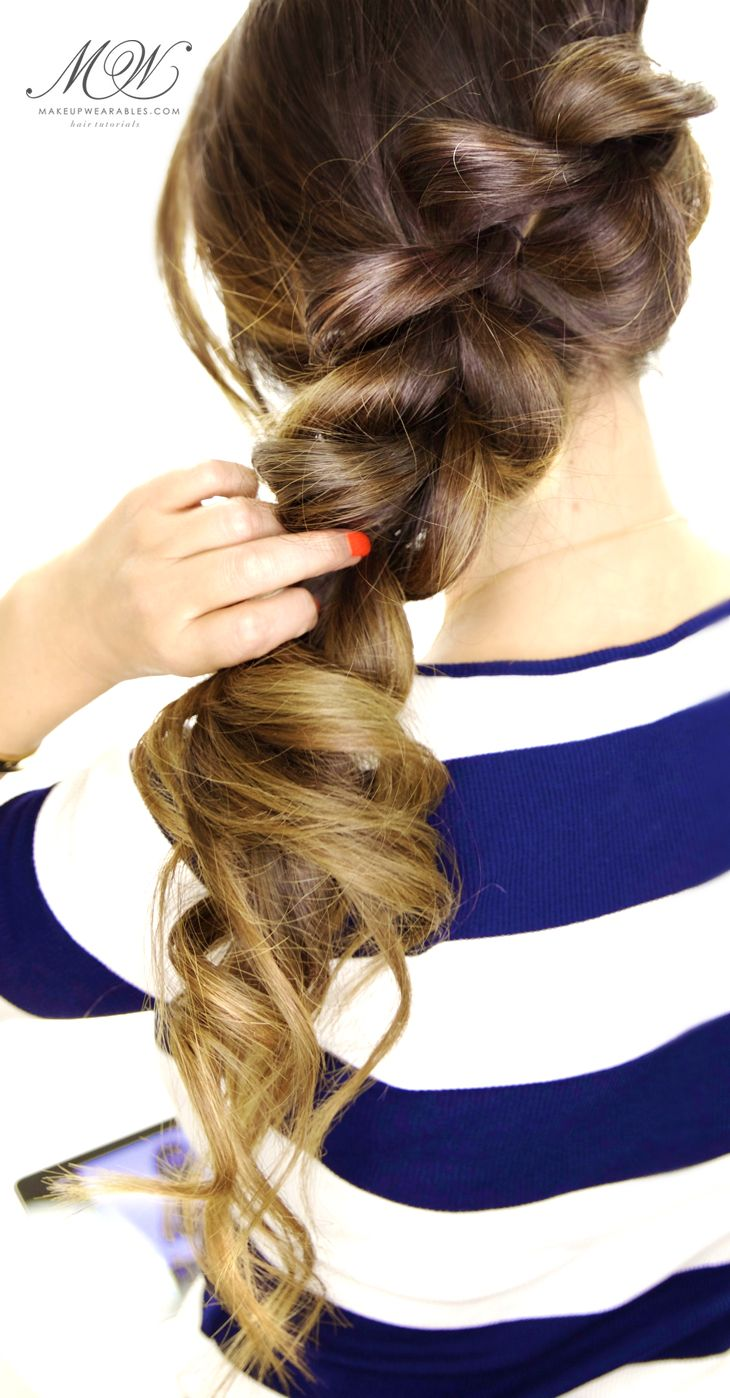 2-Minute Fancy Pony-Braid Hairstyle | Easy Hair Tutorial for Medium or Long Hair