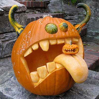 Crazy Jack O Lantern Monster halloween halloween party halloween decorations halloween crafts