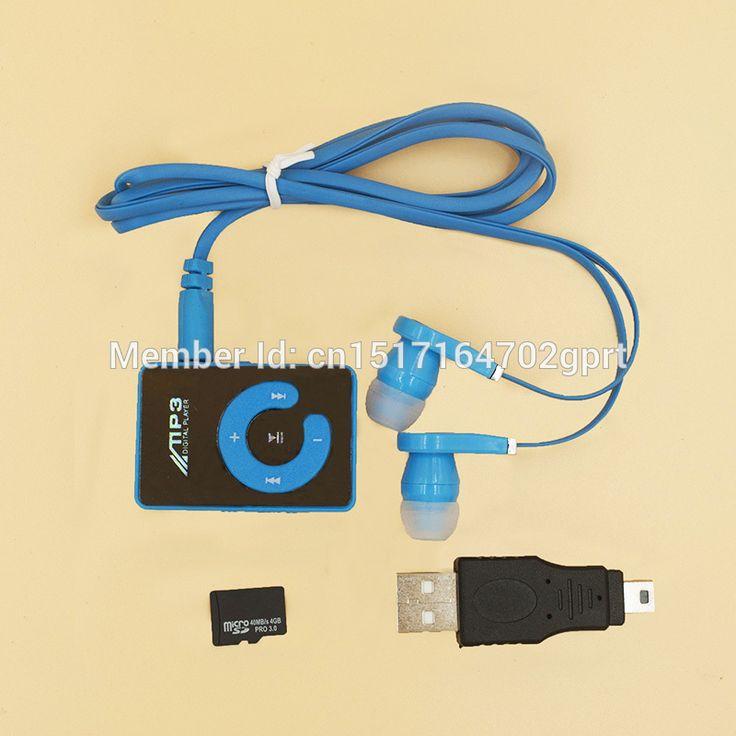 2015 Mini Clip Portable MP3 Music Media Player with 4GB Micro SD/TF+USB data line+earphone sport mp3 player walkman lettore mp3