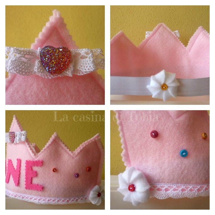 coroncina di feltro per primo compleanno baby crown