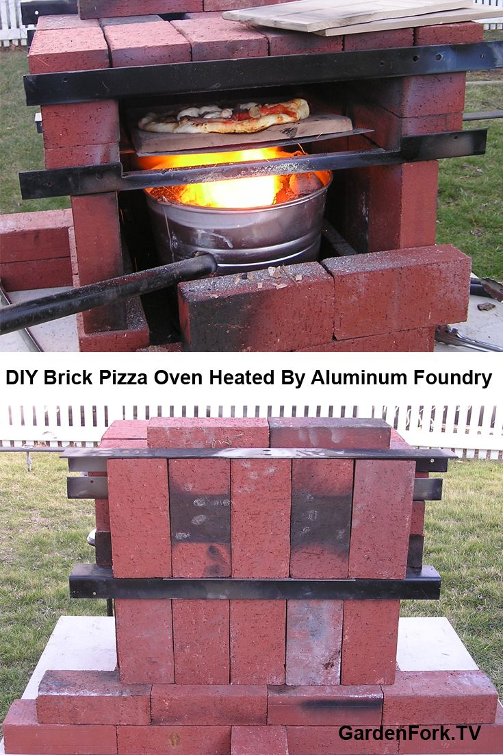 backyard brick pizza oven heated by a diy aluminum foundry the heat