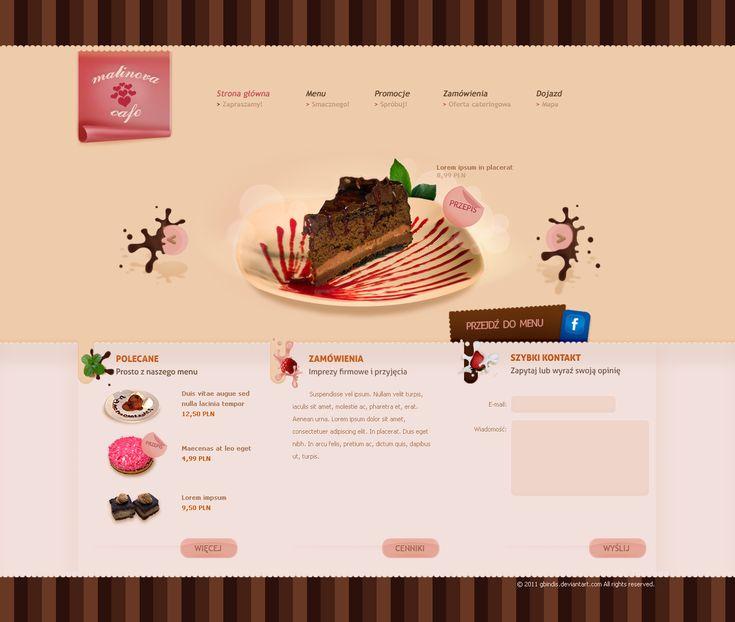 Malinova Cafe - Bakery and Coffe Websites Design Inspiration