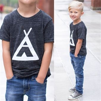 Tee Pee T and the cutest little boy haircut.@Christina Childress Shiffler jude needs this outfit and hair cut! He has the hair for it!