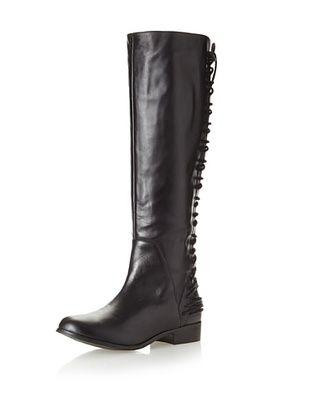 Klub Nico Women's Zanotti Back Lace-Up Tall Boot (Black)