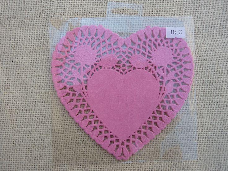 Pink Heart Doilies 25 -$14.95