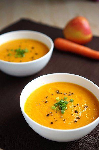 Морковно-яблочный суп