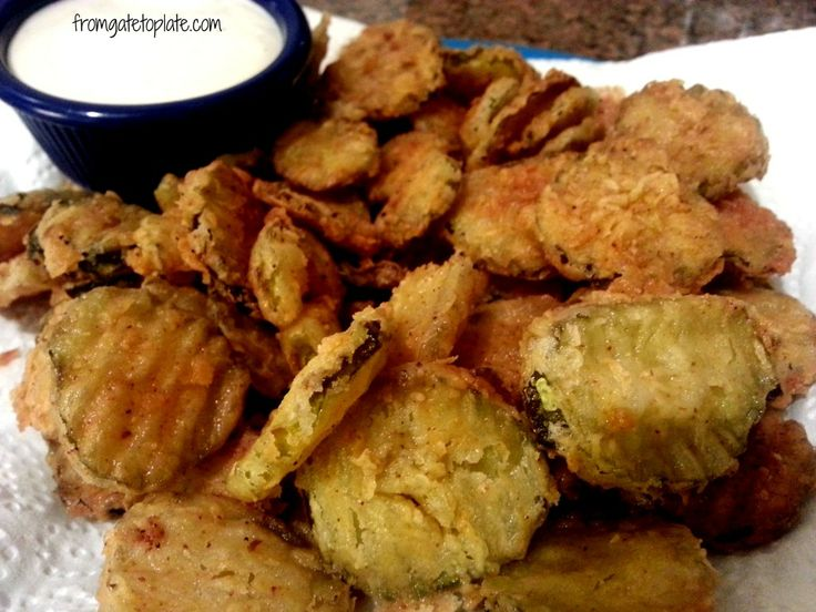 Fried Pickles. @Madeliene Lowe Lawton in Indiana at the restaurant