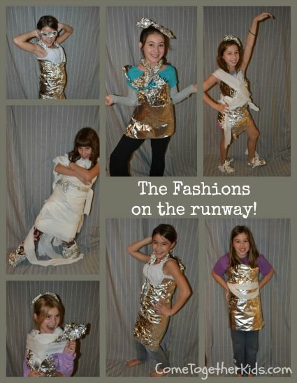 Tin Foil & Toilet Paper Challenge (Fun Party Activity)l ooks so fun i will have to try to talk my mom into this