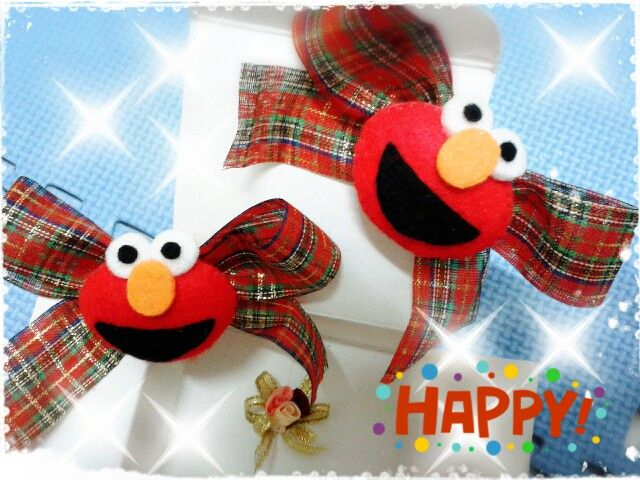 Elmo hairclip
