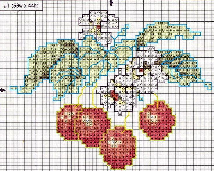 """Милые сердцу штучки: Вышивка крестом: """"Ягодное трио"""" / jagodowe trio 3/5"""