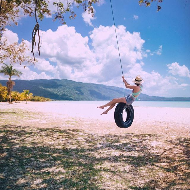 Cole Rise: swinging with the breeze on a private beach, with the goats and water buffalo. down a ways, you can find the cliff where Steve McQueen escaped in Papillon. not a bad way to spend the afternoon. #livefunner @visitjamaica