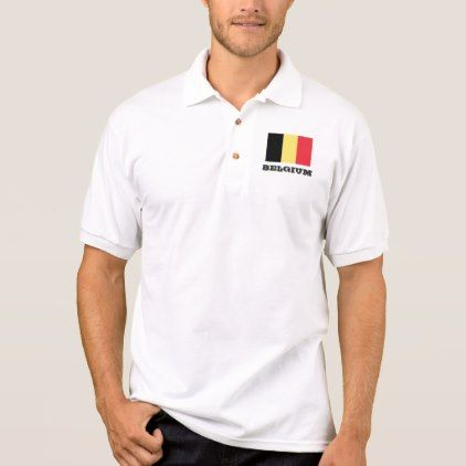 #women - #Belgian flag custom polo shirts for men and women