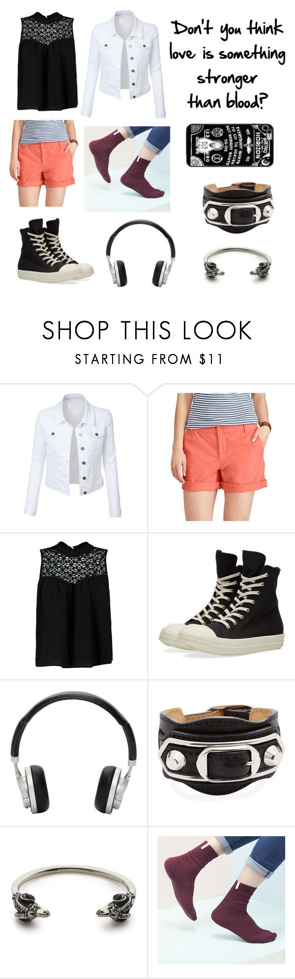 """Dead of summer OC - Cecily 3"" by theultimatefashionlover on Polyvore featuring mode, LE3NO, Chaps, Boohoo, DRKSHDW, Master & Dynamic, Balenciaga, Kempink en Hot Topic"