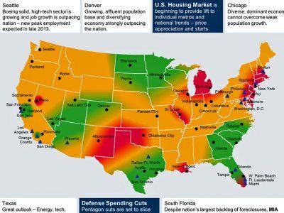 US Regional Economic Map, Nov. 2013 - Business Insider #machinetools