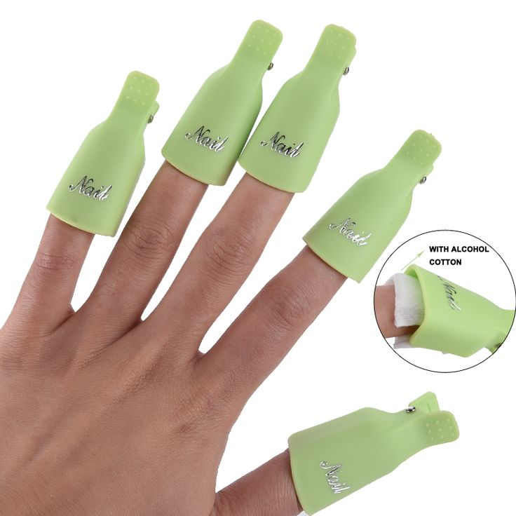 5 Pcs/set  Durable Reusable Plastic Nail Polish Remover Lacquer Tool Soak Off Wrap Nail Cleaner Nail Clip Cap Remover Gel