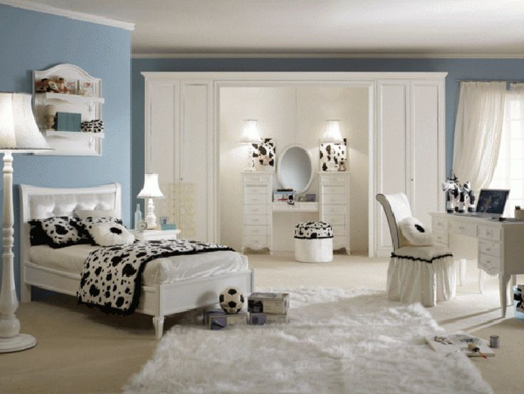 teen room room design ideas for teenage girl teenage girl bedroom designs fur rug cozy bed white wardrobes floor lamp table lamp black and
